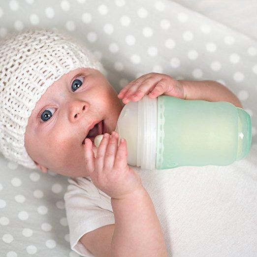 olababy-gentel-babyflasche-glas-gruen-baby